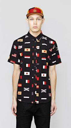 Black Team Short Sleeve Shirt I Love Ugly, Classic Man, Men Looks, Casual Shorts, Menswear, Men Casual, Football, Sleeve, Shirt
