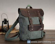 4c857554f30e Student Bag Canvas Backpack Canvas Bag Book Bag