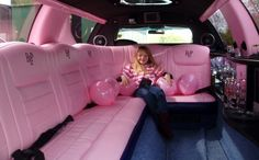 what a awesome limousine and guess what IT IS PINK!!