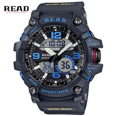 Top Brand Men Sports Watches Display Analog LED Electronic Quartz Wristwatches Waterproof Swimming Military Watch #Affiliate