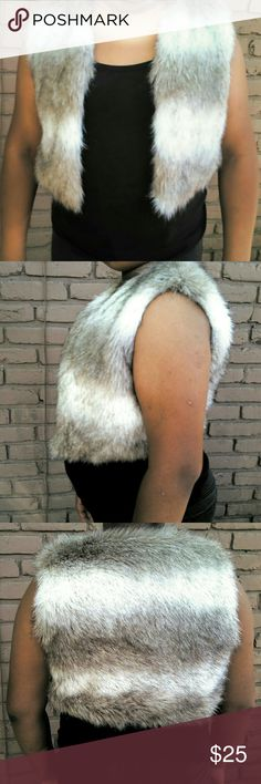 Fur Vest Jacket Comfortable, Furry, Stylish, & in great condition as you can see above! Jackets & Coats Vests