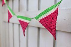 Free crochet pattern for watermelon garland