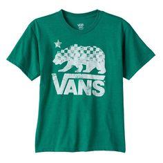 Boys 8-20 Vans Bear Tee, Size: Medium, Dark Green