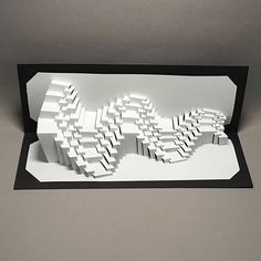 Waves 4 Stream : kirigami pop-up paper sculpture Folding Architecture, Crafts To Sell, Diy Crafts, Stage Set Design, Origami And Kirigami, Paper Pop, Paper Artwork, Paper Folding, Paper Crafts