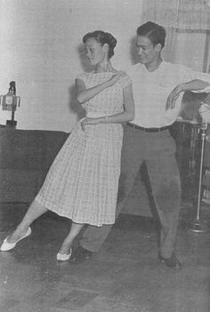Why yes, that's Bruce Lee doing the cha-cha in the 50's during his competitive dancing years. The page has a short video of him dancing too.