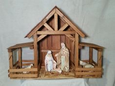 Reclaimed Wood Nativity Stable Creche Handcrafted Manger Barn with side pens Christmas Crib Ideas, Christmas Manger, Christmas Nativity Scene, Christmas Crafts For Kids, Christmas Deco, Christmas Projects, Homemade Christmas, Nativity Stable, Nativity Crafts