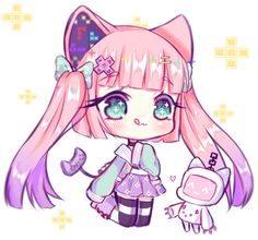 Art trade with Brabbitwdl I had so much fun drawing this character ! [AT] Brabbitwdl Dibujos Anime Chibi, Cute Anime Chibi, Cute Anime Pics, Kawaii Chibi, Kawaii Anime Girl, Kawaii Art, I Love Anime, Cute Cartoon Characters, Cute Kawaii Drawings