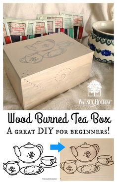 Wood Burned Tea Box Tutorial