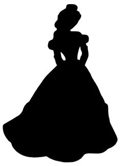 Beauty and the Beast Belle Silhouette Decal on Etsy, $5.00