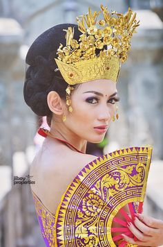 Beutiful Balinese Girl Traditional Style, Indonesia.