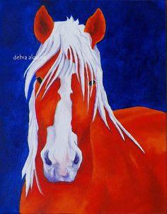 Original Oil Painting Draft Horse by Artist  debra by grandhorse, $75.00
