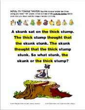 Tongue Twisters for the SH, CH, TH, and L Sounds Articulation Exercise - pinned…