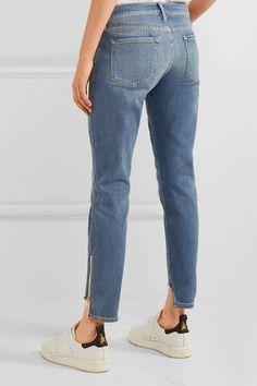 FRAME - Garcon Distressed Mid-rise Slim Boyfriend Jeans - Mid denim - 29