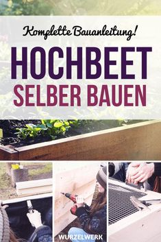 Hochbeet aus Holz selber bauen: Einfache Bauanleitung Build a raised bed of wood yourself: Here is the step by step construction manual! You can build a raised bed super easy from construction boards, Garden Care, Garden Shed Diy, Herb Garden Design, Vegetable Garden Design, Pallet Shed, Pallets Garden, Diy Pallet, Raised Garden Beds, Raised Beds