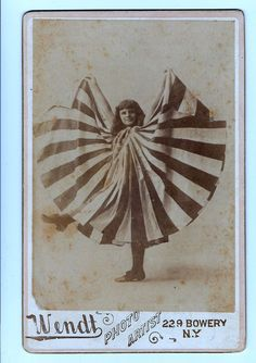 "Antique Cabinet Photo Studio Wendt New York Girl In Out Fit 4"" X 6.5"""