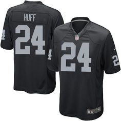 2934bde53 Youth Nike Oakland Raiders  24 Michael Huff Limited Black Team Color NFL  Jersey Sale Broncos