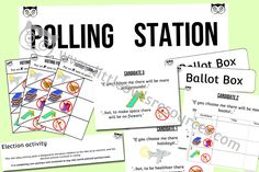 Election/Polling Station — Little Owls Resources - FREE Nursery Practitioner, Early Years Teacher, Polling Stations, Literacy Games, Role Play, Eyfs, Nursery Rhymes, Phonics, Encouragement