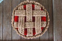 Crochet Pie Potholder von MorganMarieCrochet auf Etsy