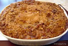 Sweat potato casserole with wonderful golden sweat crunchiness. A holiday side that will have them asking for the recipe.