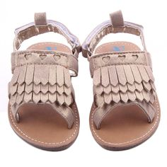 Binmer(TM)Baby Shoes Baby Tassel Sandals Toddler Princess First Walkers Girls Prewalker ( 11:0~6 Month, Khaki )
