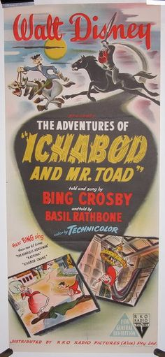 The Adventures of Ichabod and Mr. Toad.  Wish this would still come on the Disney channel around Halloween like it used to :/
