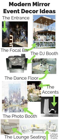 Modern Mirror Event Decor Ideas