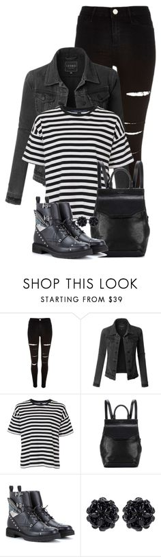 """""""Untitled #135"""" by aria-kam ❤ liked on Polyvore featuring River Island, LE3NO, French Connection, rag & bone, Fendi and Simone Rocha"""