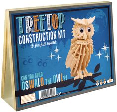 Treetop Construction Kit & Fun Fact Booklet - Oswald the Owl