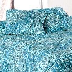 Boutis et taies d'oreiller (230 x 250 cm) Mandala Bleu : choisissez parmi tous nos produits Couvre-lit, boutis