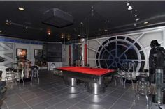 Star Wars themed bar - I have a feeling my boyfriend would love to do this to the basement...