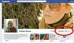 Facebook probando un botón de llamada en el Timeline [Foto]