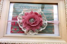 Vintage Inspired Shabby Chic Rose and Lace headband by CountryBabyHandmade, $7.99