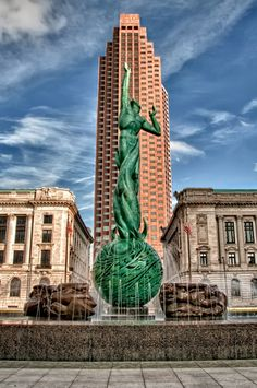 Cleveland, Ohio – Fountain of Eternal Life (HDR) - Talke Photography