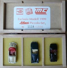 Schuco Piccolo Set, limitiert, Porsche, Jaguar, Ferrari, Neu mit Zertifikat, NEU