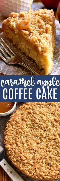 This Caramel Apple Coffee Cake is the ultimate taste of fall! Loaded with fresh apples and topped with gooey caramel, this is one breakfast treat your family will ask for again and again!