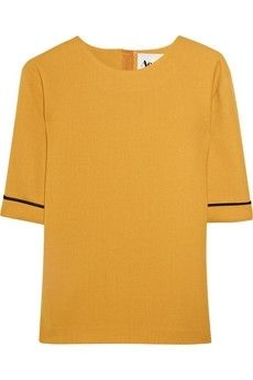 Acne|Wilma wool-crepe top|NET-A-PORTER.COM - StyleSays
