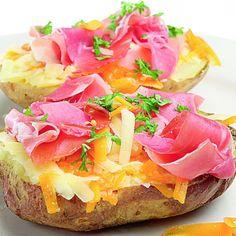 Cartofi copţi cu prosciuto