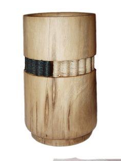 Vase mit Flechteinsatz, Nußbaum Turning, Braid, Tree Structure