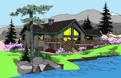 Vacation House Plan chp-32905 at COOLhouseplans.com