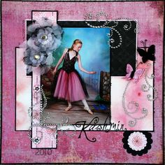 pretty..... Wendy Schultz via Bethanie Million onto Scrapbook Art.