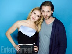 Amanda Schull and Aaron Stanford, '12 Monkeys' #EWComicCon  Image Credit: Michael Muller for EW