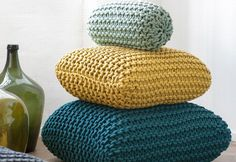 Knitted floor cushion gifts by Ferm Living