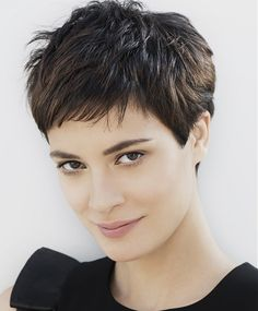 Short Brown straight womens haircut hairstyles for women