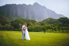 Brit and Tim – Kualoa Ranch Wedding on Oahu!Photo by The Goodness, Molii Gardens
