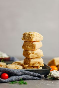 Fluffy, tender, vegan, gluten-free biscuits! Just 1 bowl and 9 simple ingredients required! The perfect vegan, gluten-free biscuit for any occasion!