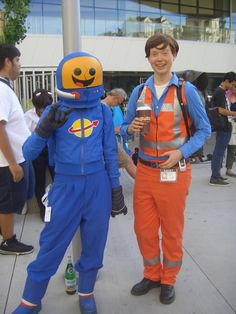 Benny and Emmet Costumes & LEGO movie costumes -- Emmett and Bad cop | halloween ideas ...