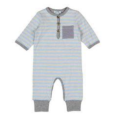 Mini a ture baby onesie long - stripes