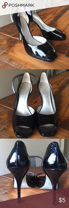 Selling this Black Patent Leather Jessica Simpson Pumps Heels on Poshmark! My username is: eandskp. #shopmycloset #poshmark #fashion #shopping #style #forsale #Jessica Simpson #Shoes