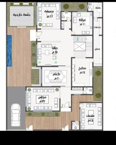 Square House Plans, Floor Plans, How To Plan, Floor Plan Drawing, House Floor Plans