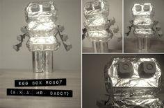 cute egg box robot... easy toddler craft